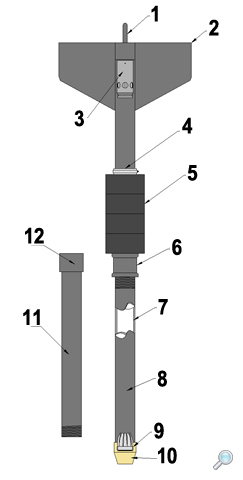 Gravity sediment corer