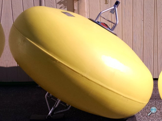 Ellipsoid-shaped buoy