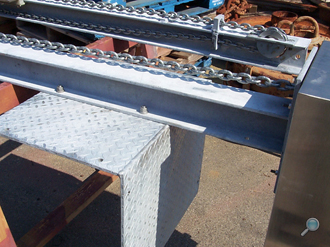 Pier installation I-Beam support angle