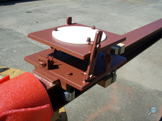 Pier installation sled assembly for ADCP buoys