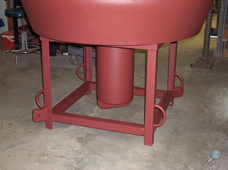 Surface buoy steel well & base