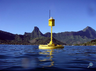 MSI G-400 surface buoy deployed in Tahiti